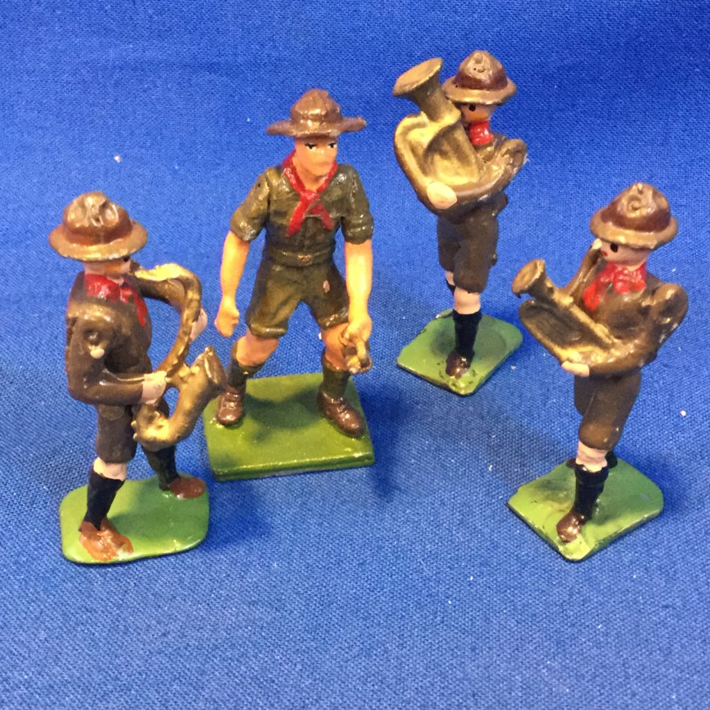 Scout Figures with Musical Instruments