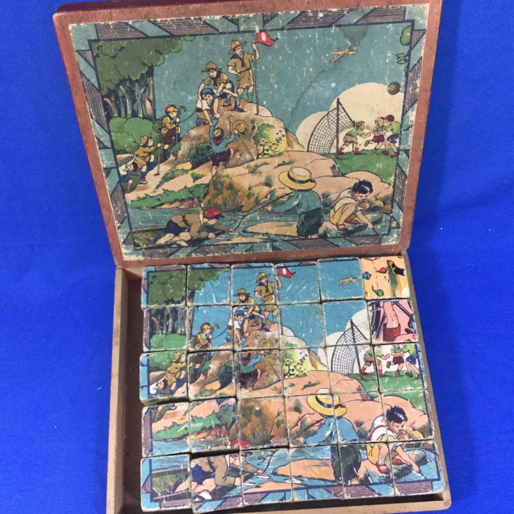 Vintage Toy Boy Scout Blocks