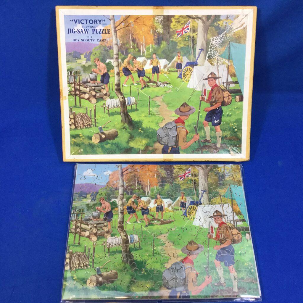 Vintage Boy Scout Camp Jig-Saw Puzzle